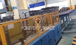 Skew rolling steel ball production line