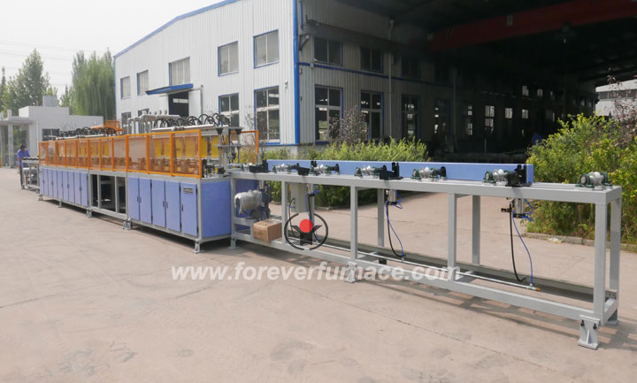 Steel pipe hardening and tempering production line