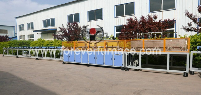 Thread bar heat treatment furnace