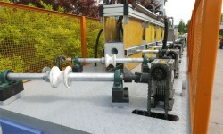 Thread bar heat treatment line