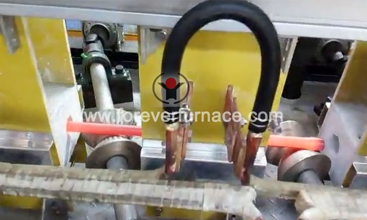 Torsion bar heat treatment line