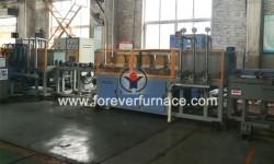 Heat treatment furnace of steel rods