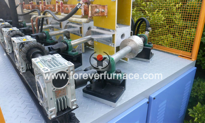 Piston rod heat treatment machine