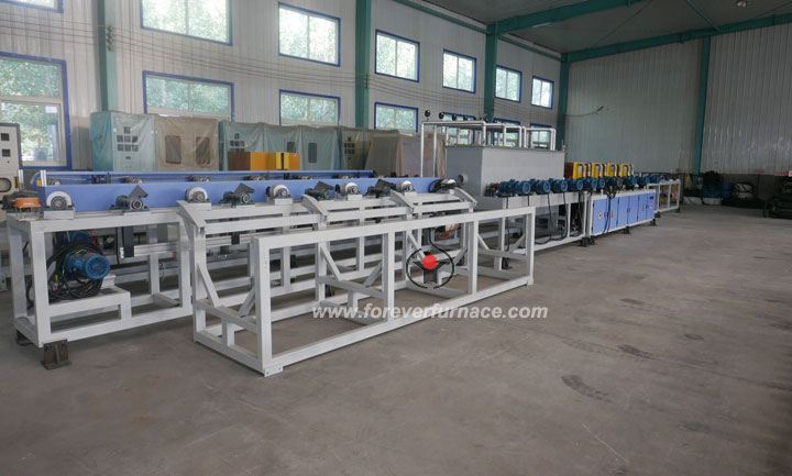 Steel bar hardening machine