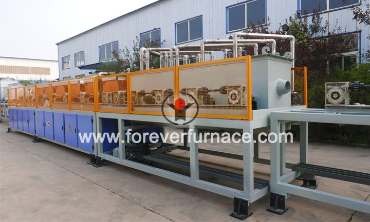 steel bar heat treatment machine